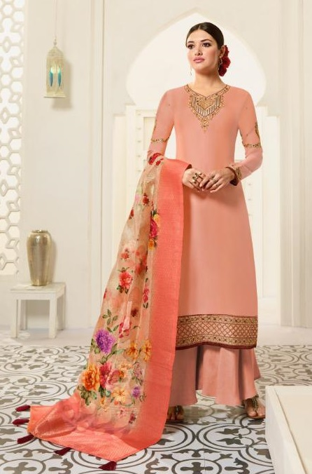 Amirah Presents Vol 30 Satin Georgette With Embroidery Work and Hand work Designer Salwar Suit 12031