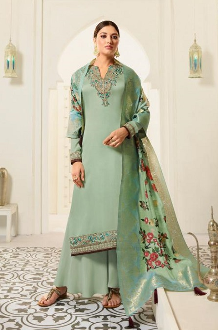 Amirah Presents Vol 30 Satin Georgette With Embroidery Work and Hand work Designer Salwar Suit 12032