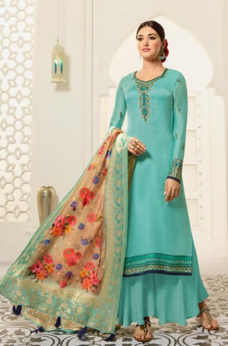Amirah Presents Vol 30 Satin Georgette With Embroidery Work and Hand work Designer Salwar Suit 12034