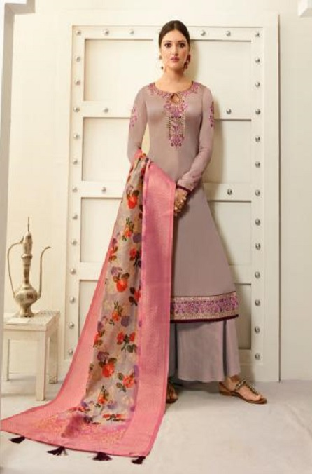 Amirah Presents Vol 30 Satin Georgette With Embroidery Work and Hand work Designer Salwar Suit 12035
