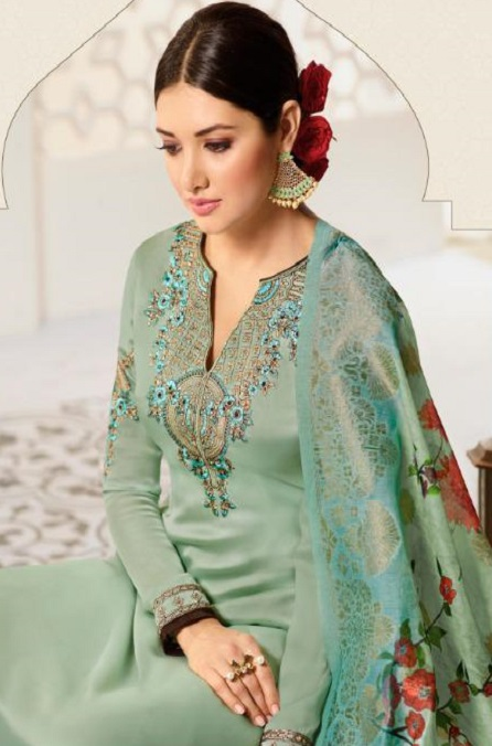 Amirah Presents Vol 30 Satin Georgette With Embroidery Work and Hand work Designer Salwar Suits 12032