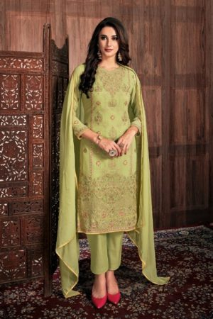 Bela Fashion Presents Presia Georgette With Embroidery Work Designer Unstitched Ladies Salwar Suit 642