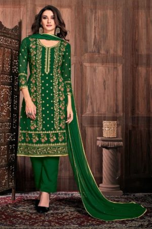 Bela Fashion Presents Presia Georgette With Embroidery Work Designer Unstitched Ladies Salwar Suit 643
