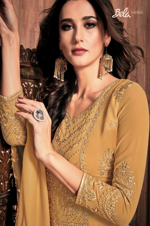 Bela Fashion Presents Presia Georgette With Embroidery Work Designer Unstitched Ladies Salwar Suit 644