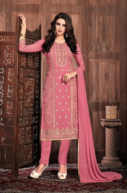 Bela Fashion Presents Presia Georgette With Embroidery Work Designer Unstitched Ladies Salwar Suits 645