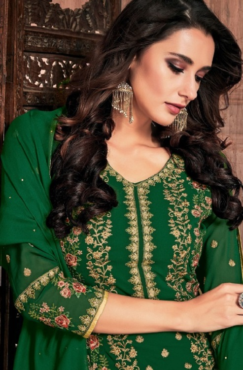 Bela Fashion Presents Presia Georgette With Embroidery Work Designer Unstitched Ladies Salwar Suits 643