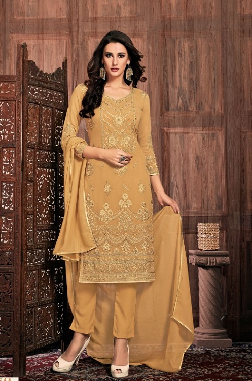 Bela Fashion Presents Presia Georgette With Embroidery Work Designer Unstitched Ladies Salwar Suits 644