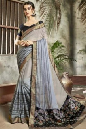 Buy Vallabhi Presents Ishabella Chiffon Designer Saree 25022