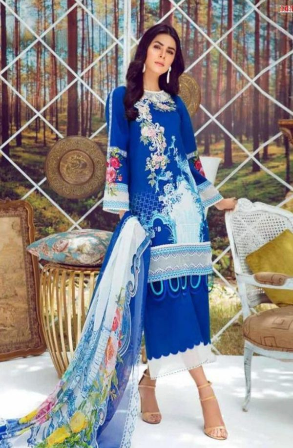 Deepsy Suits Present Firdous 4 Pure Cotton Print With Heavy Self Embroidery Salwar Suit 332