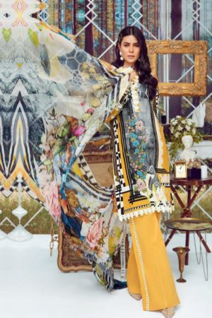 Deepsy Suits Present Firdous 4 Pure Cotton Print With Heavy Self Embroidery Salwar Suit 334
