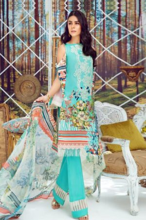 Deepsy Suits Present Firdous 4 Pure Cotton Print With Heavy Self Embroidery Salwar Suit 335