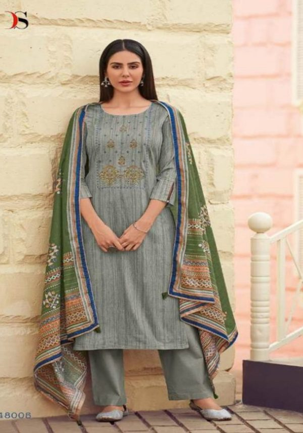 Deepsy Suits Presents Panghat 7 Pure Jam Silk Cotton Print With Self Embroidery Salwar Suit 48005