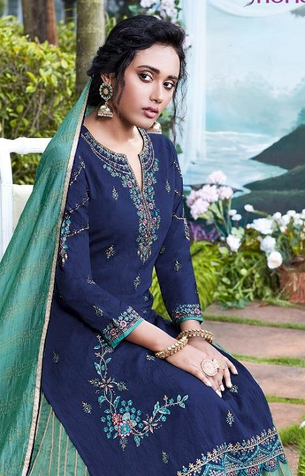 Fiona Presents Nazia Viscose Modal With Work Designer Partywear Suits 22682