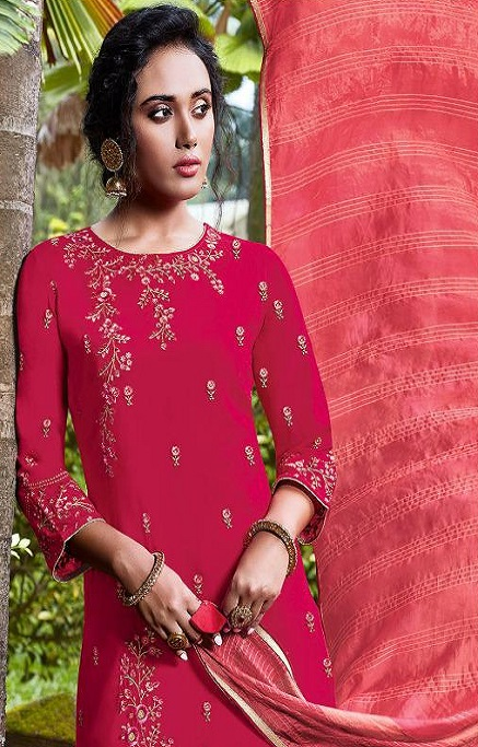 Fiona Presents Nazia Viscose Modal With Work Designer Partywear Suits 22683