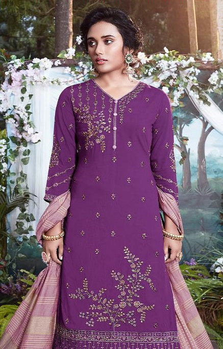 Fiona Presents Nazia Viscose Modal With Work Designer Partywear Suits 22684