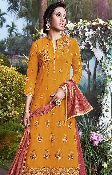 Fiona Presents Nazia Viscose Modal With Work Designer Partywear Suits 22685