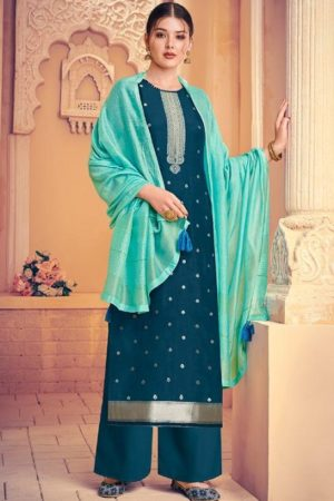 Ibiza Presents Afrose 2 Pure Viscose Silk Jacquard With Swarovski Salwar Suit 428