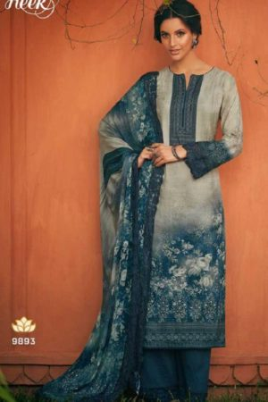 Kimora Presents Heer Nargis Pure Dola Silk Digital Print With Embroidery Salwar Suit 9893