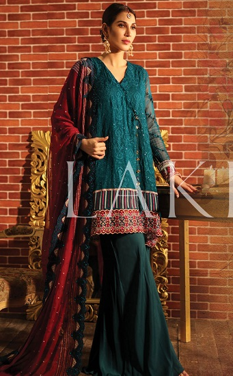 LSM Fabrics Presents Baad E Saba Chiffon Dyed Embroidered Pakistani Originals Salwar SuitS BS-80 07