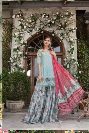 Maria B Lawn Exclusive Collection Lawn Printed Salwar Suit D1