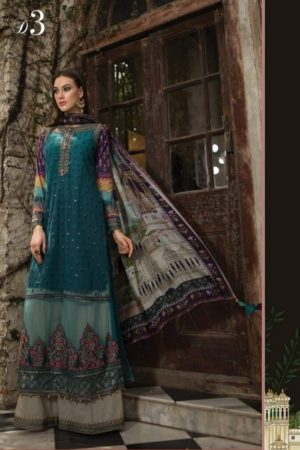 Maria B Lawn Exclusive Collection Lawn Printed Salwar Suit D3
