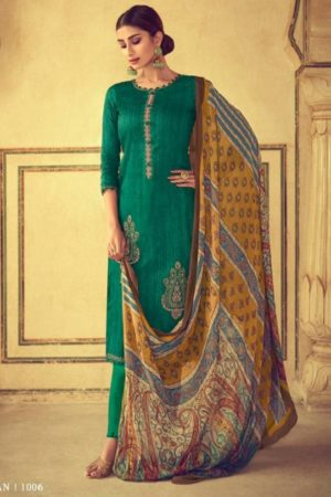 Mumtaz Arts Presents Aangan Pure Jam Satin Karachi Salwar Suits 1006