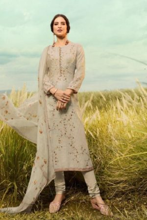 Omtex Presents Muse Lawn Cotton Digital Print With Cross Stitch Embroidery and Handwork Salwar Suit 863