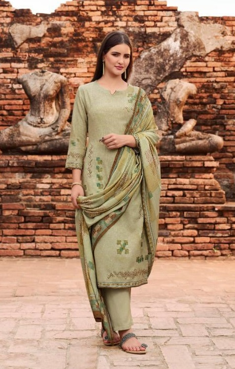 Omtex Presents Parinaaz Lawn Cotton Digital Print With Cross Stitch Embroidery and Handwork Salwar Suit 911