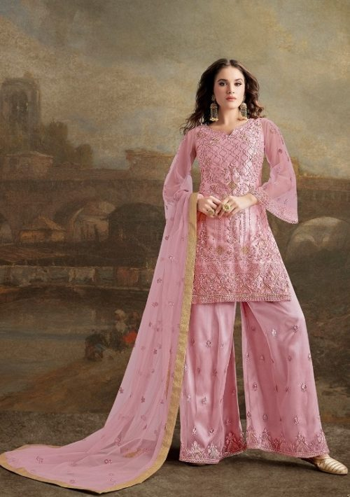 Rama Fashions Presents Raazi Taj 2 Super Net With Work Designer Partywear Suit 30025