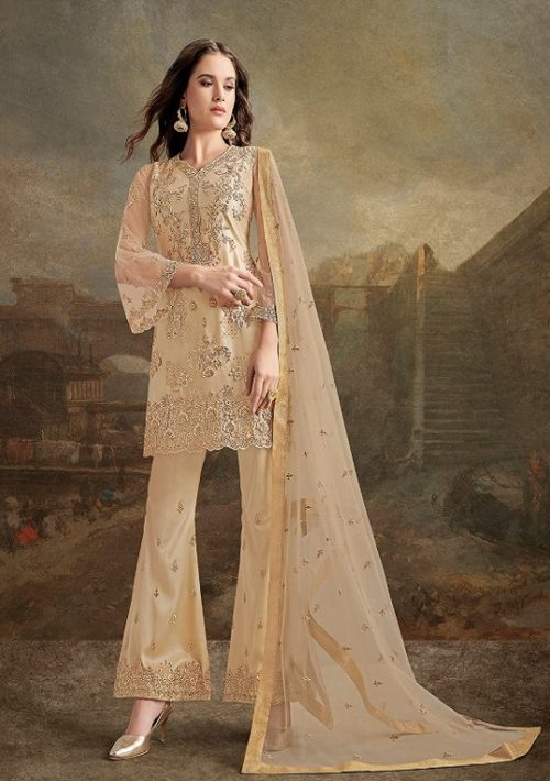 Rama Fashions Presents Raazi Taj 2 Super Net With Work Designer Partywear Suit 30027