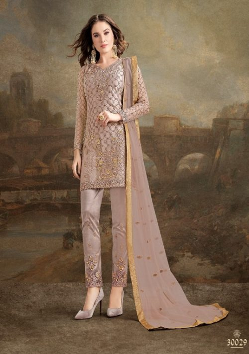 Rama Fashions Presents Raazi Taj 2 Super Net With Work Designer Partywear Suit 30029