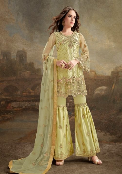 Rama Fashions Presents Raazi Taj 2 Super Net With Work Designer Partywear Suit 30031
