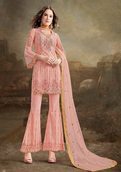 Rama Fashions Presents Raazi Taj 2 Super Net With Work Designer Partywear Suit 30032