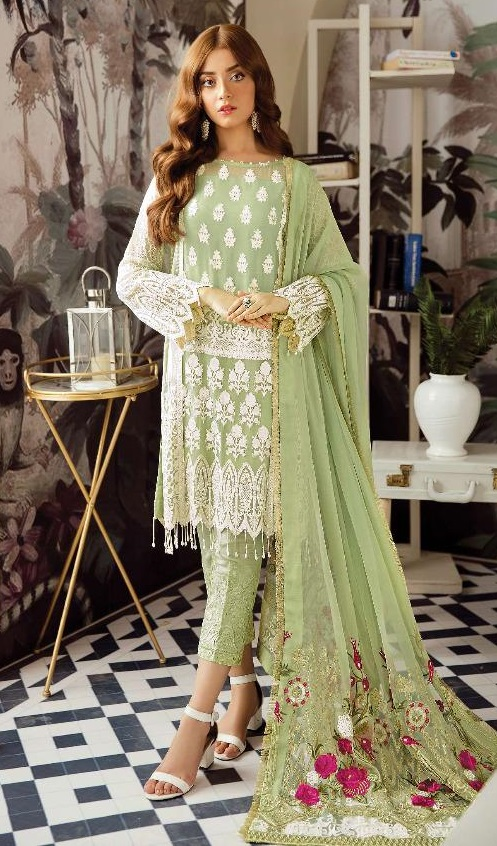 Rinaz Fashion Presents Afrozeh Foux Georgette With Embroidery and Diamond Work Salwar Suit 1801