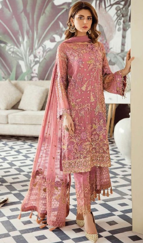 Rinaz Fashion Presents Afrozeh Foux Georgette With Embroidery and Diamond Work Salwar Suit 1806