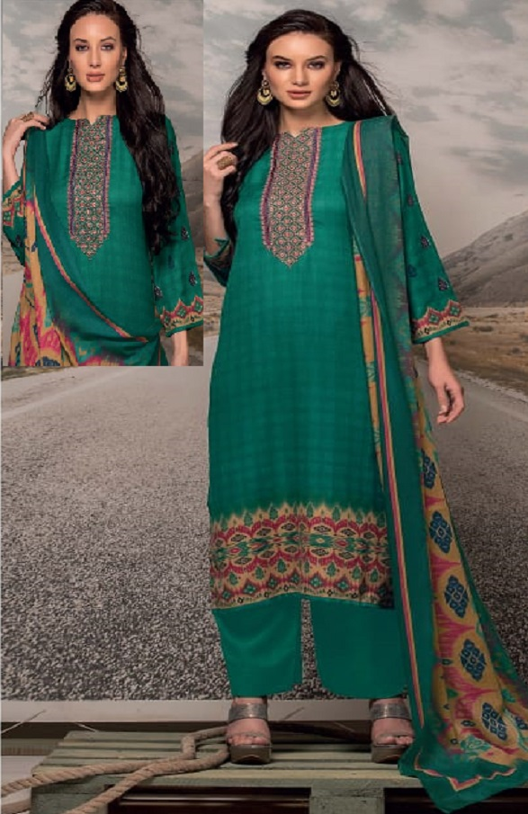 Rivaa Presents Noorie 4 Pashmina With Fancy Embroidery Salwar Suit 2522A