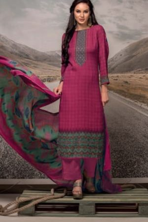 Rivaa Presents Noorie 4 Pashmina With Fancy Embroidery Salwar Suit 2522B