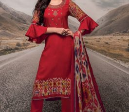 Rivaa Presents Noorie 4 Pashmina With Fancy Embroidery Salwar Suit 2523B