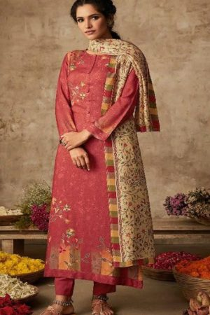 Sahiba Itrana Presents Art Of Weave Cotton Satin Dobby Digital Print with Handwork Salwar Suit 388