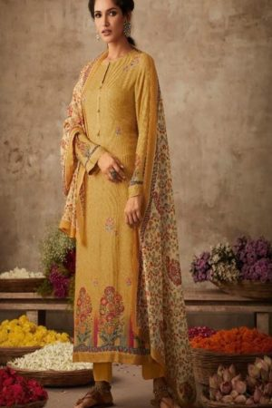 Sahiba Itrana Presents Art Of Weave Cotton Satin Dobby Digital Print with Handwork Salwar Suits 346