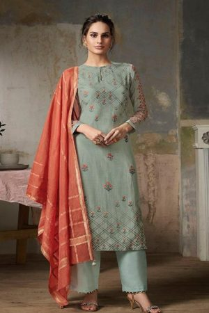 Sahiba Sarg Presents Fern Silk Collection Pure Silk Digital Print With Handwork Suits 326