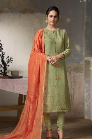 Sahiba Sarg Presents Fern Silk Collection Pure Silk Digital Print With Handwork Suits 380