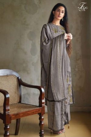 Sahiba T&M Presents Knots Pure Crepe Digital Print With Handwork Salwar Kameez 212