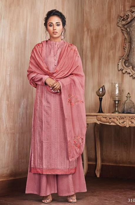 Sajjan Relssa Presents Pure Munga Silk With Fancy Embroidery Jariwork Salwar Suit 31003