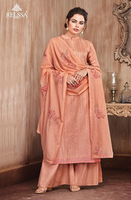 Sajjan Relssa Presents Pure Munga Silk With Fancy Embroidery Jariwork Salwar Suit 31005