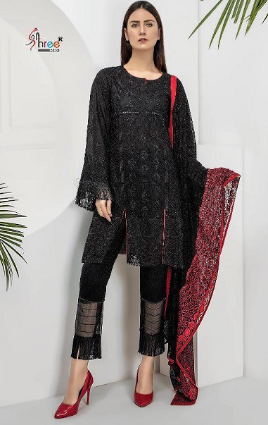 Shree Fabs Presents Almirah Vol 3 Pure Cotton Print with Heavy Embroidery Salwar Suits 1955