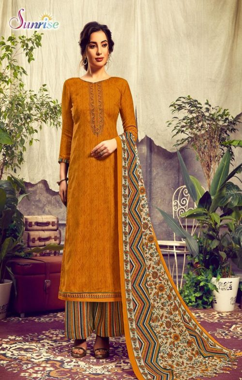 Sunrise Creation Presents Sweat Pure Pashmina With Embroidery Unstitched Winter Salwar Suit 1002