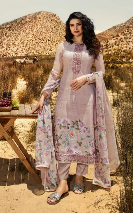 Vinay Fashion Silkina 28 Crepe With Print and Embroidery Designer Partywear Suit 11853