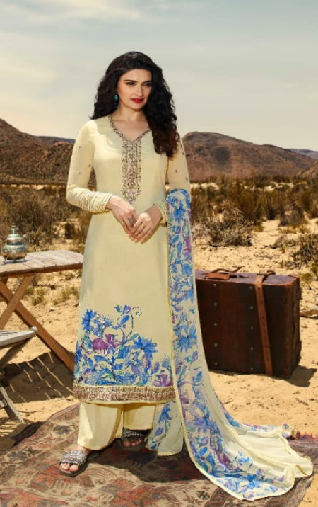 Vinay Fashion Silkina 28 Crepe With Print and Embroidery Designer Partywear Suits 11852