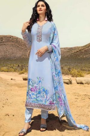 Vinay Fashion Silkina 28 Crepe With Print and Embroidery Designer Partywear Suits 11857